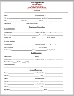 free business credit application form printable credit application